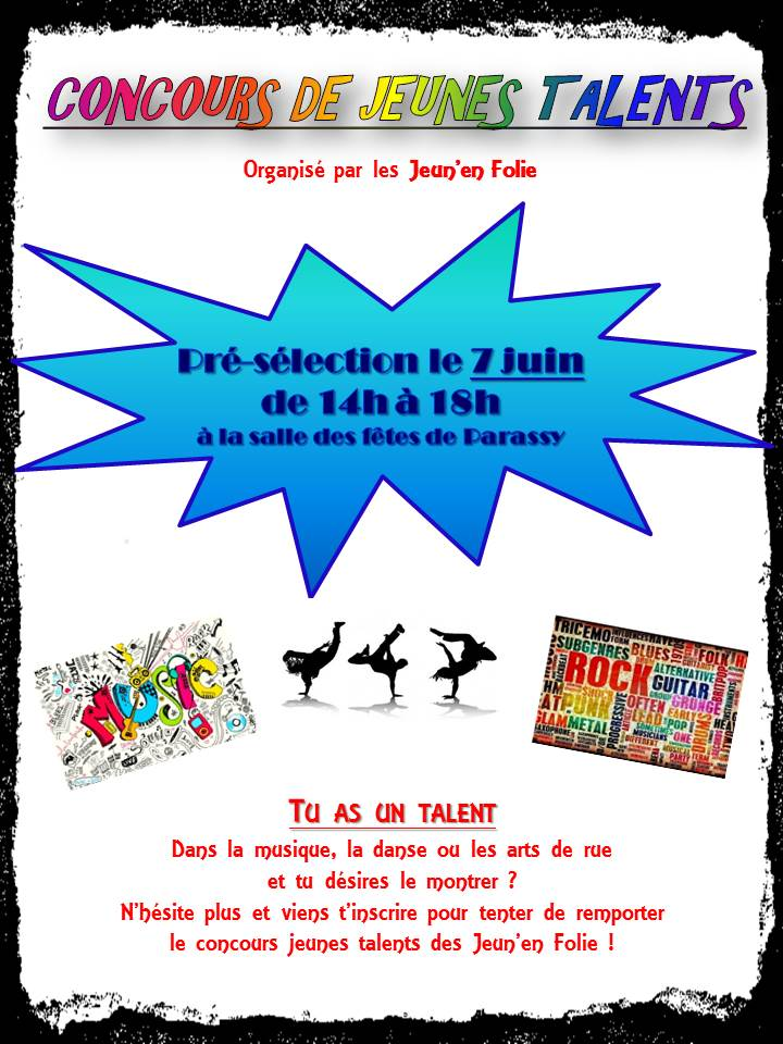 Flyer jeunes talents : recto